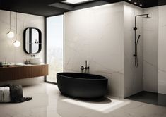 Porcelain stoneware wall/floor tiles with marble effect THE ROOM - STA VP The Room Collection By Ceramica d'Imola Carrara, Warm And Cold Colours, Contemporary Tile, Marble Effect, Wall Cladding, Wall And Floor Tiles, White Rooms, Stone Tiles, Modern Room