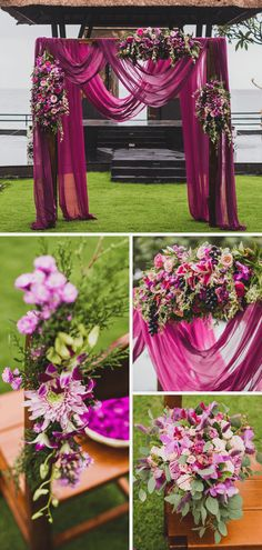 Magenta Bridesmaid Dresses, Fuschia Wedding, Garden Wedding Decorations, Wedding Day, Wedding Dresses, Inspiration, Future, Ideas, Fiestas