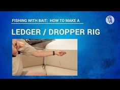 BAIT FISHING: How to make a LEDGER/DROPPER rig to catch fish like snapper, kahawai, trevally - YouTube