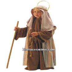 disfraz de san jose para niño en talla 10 a 12 años en el que incluye Túnica, chaleco y pañuelo con corona