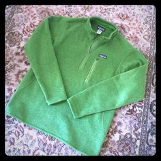Final Sale! 🍀LIKE NEW🍀 Patagonia Better Sweater Gorgeous Irish green Patagonia Better Sweater quarter zip pullover, size M's medium, worn only a few times so in excellent condition! Beautiful unique color and perfect weight fleece to wear any season as an extra layer. As always no trades and negotiations thru offers only! Patagonia Tops