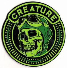 Creature Die High Skateboard Sticker – 9cm high approx. skate snow surf board bmx guitar ipad: Brand new sticker made by the manufacturer -…