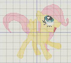 Buzy Bobbins: Filly Fluttershy cross stitch design