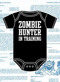 Zombie Hunter onesie