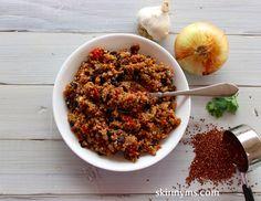 Skinny Quinoa with Black Beans