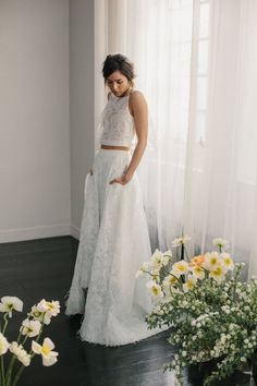 Alexandra Grecco Wedding Dresses 2016 Collection III on Mrs2Be.ie. Bridal separates, crop top and skirt with pockets. #trends