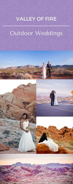 Valley of Fire Weddings. Book your outdoor wedding package today at Chapel of the Flowers. Imagine your romantic and adventurous wedding photos with the picturesque desert landscapes.