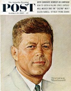"""Portrait of John F. Kennedy,"" Oct. 29, 1960, by Norman Rockwell, by Norman Rockwell"