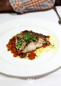 Rick Stein at Bannisters - Mollymook, NSW (A Table For Two) {Grilled Snapper served with Chopped Tomatoes and Vanilla Butter Vinaigrette}