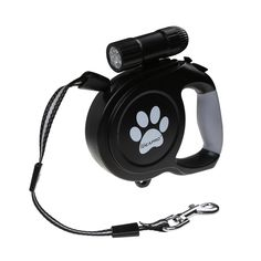 Dog retractable leash 26-feet (110 pounds) with LED Detachable Flashlight, NO TANGLE, Heavy Duty, Reflective -Strong Nylon Lead, Training Dog Leash With Comfortable Grip and One Button Brake and Lock -- You can get more details by clicking on the image. (This is an affiliate link) #DogLeashes