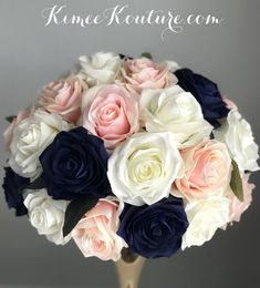 NAVY BLUE, IVORY Cream Roses, Blush Roses, Purple Roses, Blush Pink, Aqua Wedding, Rainbow Wedding, Peacock Wedding, Luxury Wedding, Wedding Bells