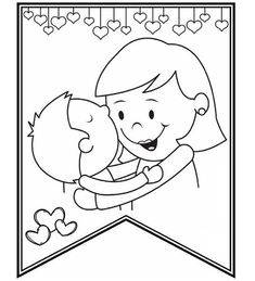 Mar 2020 - free printable mothers day coloring pages -Free Printable Mom Coloring book Mothers Day Coloring Sheets, Mothers Day Coloring Pages, Coloring Pages For Kids, Mothers Day Crafts For Kids, Mothers Day Cards, Happy Mothers Day, Animal Coloring Pages, Colouring Pages, Coloring Books
