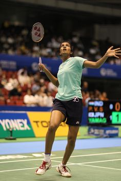 Sindhu p. (nanoray competes in the yonex open japan 2013 badminton P V Sindhu, Women's Badminton, Fitness Tips, Health Fitness, Bra Video, Olympic Gold Medals, Sports Personality, Healthy Living Quotes, Sport Quotes