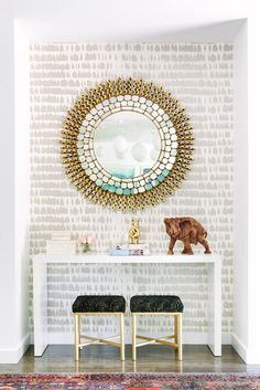 50 Entryway Mirror Decor Ideas to Make the Space Extra Special Latest Fashion Tr. 50 Entryway Mirror Decor Ideas to Make the Space Extra Special Latest Fashion Tr… – 50 Entrywa Entryway Mirror, Entryway Decor, Modern Entryway, Entryway Ideas, Foyer Wallpaper, Wallpaper Ideas, Foyer Decorating, Decorating Ideas, Interior Decorating