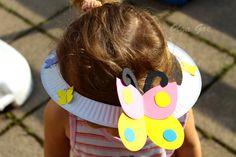 Поделки с детьми. Шляпа из тарелки своими руками - Бабочка.
