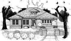 Prairie House Plan with 1650 Square Feet and 3 Bedrooms(s) from Dream Home Source | House Plan Code DHSW10822