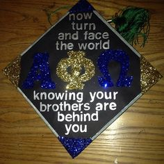 I am completely in love with this! For SAI Phi Sigma Kappa, Alpha Phi Omega, Pi Beta Phi, Graduation 2016, Graduation Cap Designs, Graduation Caps, Greek Shirts, Grad Cap, Sorority Life