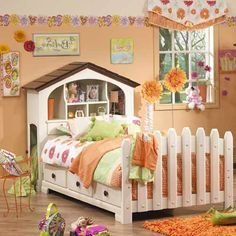 Doll house/picket fence  Headboard