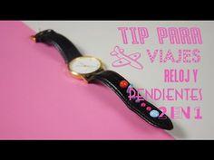 Tip para viajes reloj y pendientes 2 en 1| @iMujerHogar