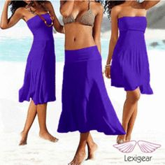 Beach Dress/Skirt Size L/XL Purple (Size 12-14) wear in various ways! for R280.00