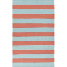 Hand-woven Beachy Stripe Sky Blue Wool Rug (5' x 8')   Overstock.com Shopping - Great Deals on 5x8 - 6x9 Rugs