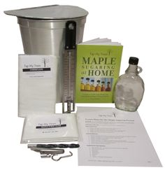 This kit is ideal for teacher led maple sugaring experience, homeschooling activity, or science fair project. Kit includes following supplies: - Maple Sugaring Lesson Plan: Lesson plan for the maple s