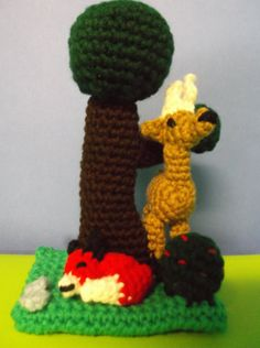 Crochet Forest Scenery with Amigurumi Animals and by SalemsShop, $20.00