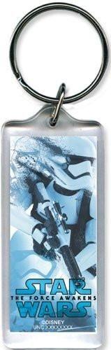 Disney Star Wars Force Awakens Trooper lucite Plastic Keychain key chain