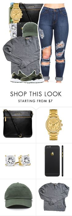 12:10 A.M. by yeauxbriana on Polyvore featuring Sandro, MICHAEL Michael Kors, Lacoste and NIKE