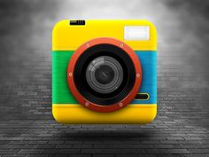 My avatar is a Lomo Fisheye 2 Rip Curl Edition and I've decided to create an iOS icon with this camera, here's the result. Lomo Camera, Camera Icon, Design Ios, Icon Design, Site Design, Flat Design, Logo Design, Launcher Icon, Template Web
