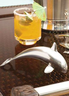 One of the ocean's most majestic creatures is actually an eye-catching bottle opener that adds a unique nautical touch to any kitchen or home bar.