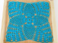 Turquoise 7 Inch Doily Square, Victorian Decor, Home Decor, Table Mat, Gifts for Her, Gifts for Mom, Gifts for Grandmothers, Crochet Doily by PatchWorkDragonShop on Etsy