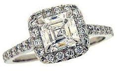 Asscher Cut Diamond Engagement Ring.