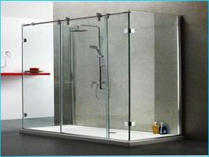 Square Frameless sliding shower doors