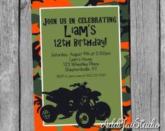 4 wheeler Birthday Party Printable Invitation by TiffsSweetDesigns