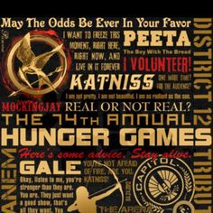 Greatest moments of the hunger games?! oh wth the whole series is a great moment ;D