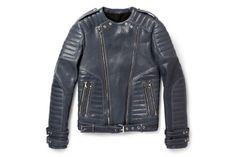 Image of Balmain Leather Biker Jacket