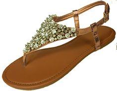 Womens Metallic & Faux Leather Gladiator Sandals Flat Shoes W/Beads & Rhinestones (5/6, Bronze 6349) Anig,http://www.amazon.com/dp/B00HFX5UDC/ref=cm_sw_r_pi_dp_6pbBtb1HBPMRNTAH