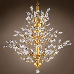 f79db04dd8f Joshua Marshal 700861 Branch of Light 10 Light Gold Chandelier with  Crystals From Branch of Light