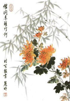 Image result for chrysanthemum chinese painting