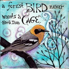 ©2010 Vickie Hallmark- Cage Vickie Hallmark has a whole series of birds