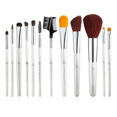 This complete 12-Piece Brush Set includes all of the Essential eyes, lips, and face makeup brushes you need to complete your flawless look. From eye shadow and liner, to concealer and foundation, the Professional 12-Piece Brush Set is just what you've bee'