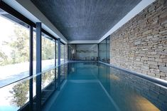House Techos by Mathias Klotz - Indoor pool for when the cold weather arrives... #House