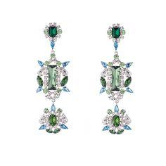 Rococo Green Earrings by Kormelitz, Designer New In Jewellery, Kabiri Jewellery Store Online