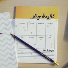 Stay Bright Weekly Planners desk organizer by PurplePineappleShop
