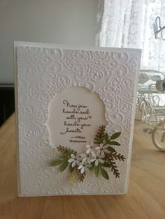 vintage romantic wedding card