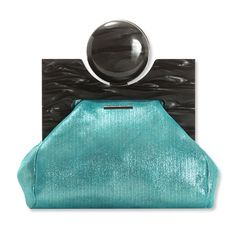 This is pure indulgence : Viktor & Rolf Bag Calfskin Clutch! Handbags 2014, Fashion Handbags, Purses And Handbags, Fashion Bags, Fashion Plates, Designer Handbags, Aqua, Teal, Zapatos Shoes