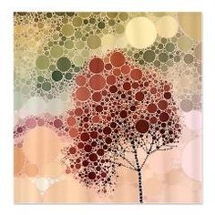 effect tree red Shower Curtain > effect trees, many versions and colors > CrazyHome