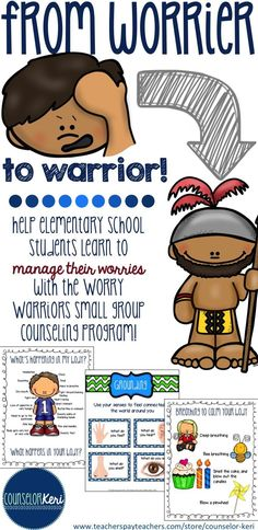 12 session worry management group counseling program for elementary students! -Counselor Keri