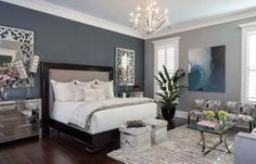Creating the perfect bedroom is something we all want. This gorgeous blue-toned master bedroom proves that it is possible to have the bedroom of your dreams!